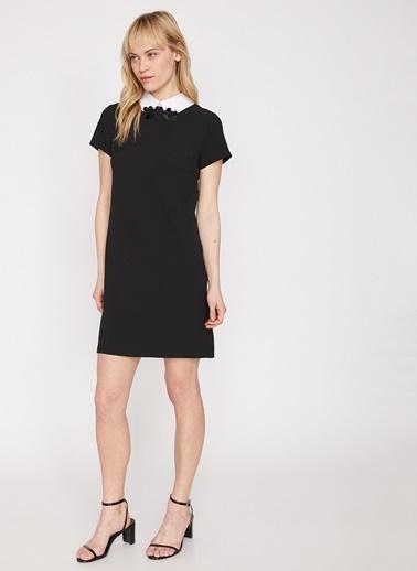 Koton Pul Detaylı Kısa Elbise Siyah